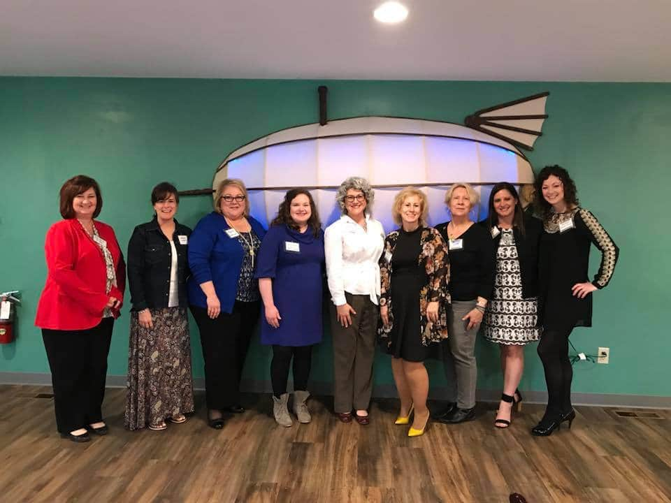 Group of Athena Women at networking event